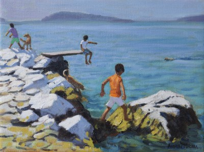 Andrew MACARA  - Three Boys and their Dogs, Plakes, Skiathos