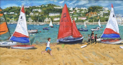 British Artist Andrew MACARA  - Red, White and Blue, Salcombe