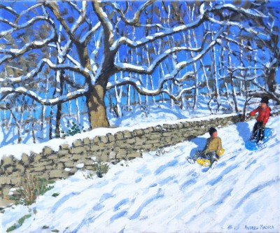 'Two Sledgers, Derbyshire Peak District' painting