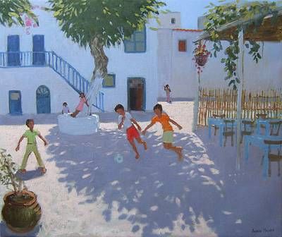 British Artist Andrew MACARA - The Cafe, Mykonos