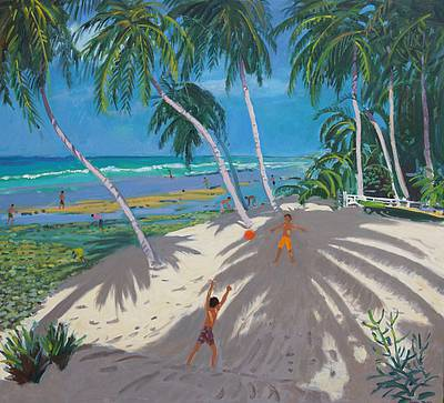British Artist Andrew MACARA - Palm Trees, Barbados