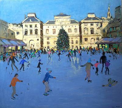 British Artist Andrew MACARA - Skaters, Somerset House