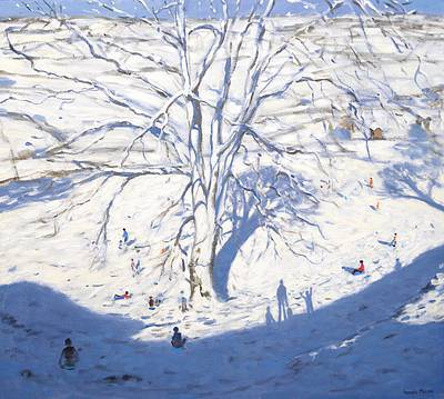 British Artist Andrew MACARA - Tree in Winter, nr Rowsley, Derbyshire