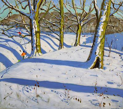 Four Trees, Dam Lane, Tissington, Derbyshire painting by artist Andrew MACARA