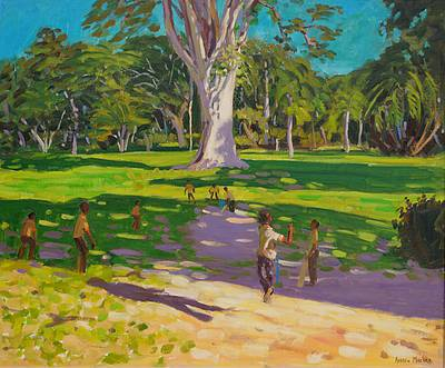 British Artist Andrew MACARA - Cricket Match, St George, Granada