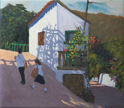 British Artist Andrew MACARA - Returning Home from School, Turkey