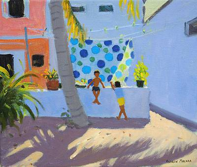 Drying the Washing, Barbados painting by artist Andrew MACARA