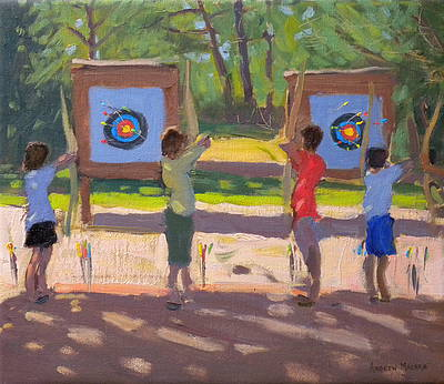 British Artist Andrew MACARA - Young Archers, France