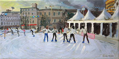 British Artist Andrew MACARA - Skating Rink, Marketplace, Derby