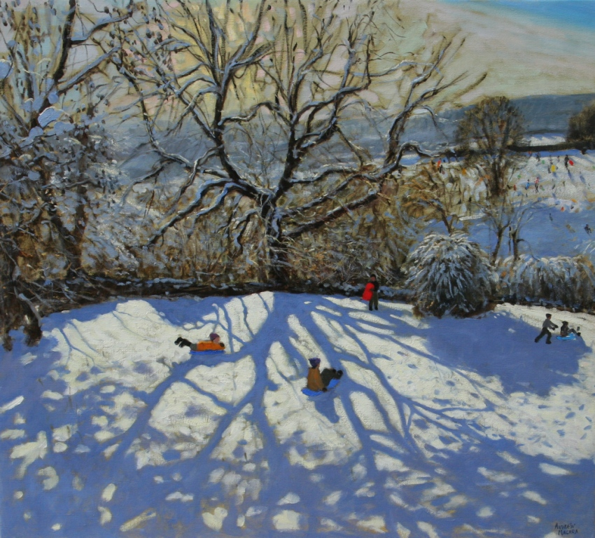 Andrew MACARA  - Large Tree and Tobogganers, Youlgreave