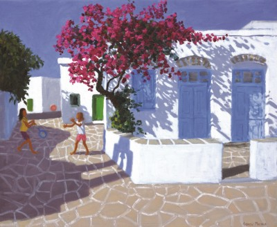 Limited Edition Prints Artist Andrew Macara - Blue Doors, Folegandros