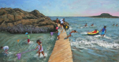 British Artist Andrew MACARA  - Jumping Into The Sea