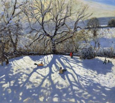 Limited Edition Prints Artist Andrew Macara - Tree and Tobbogans