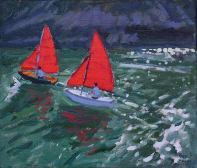 Andrew MACARA  - Red Sails, Looe