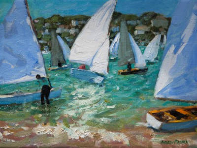 Andrew MACARA , contemporary artist&nbsp;-&nbsp;<span style='color:red;font-size: 200%'>&#8226;</span> Sailboats, Salcombe