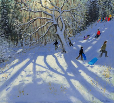 Limited Edition Prints Artist Andrew Macara - Sledging