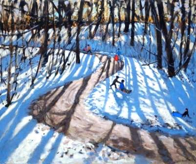 Andrew MACARA  - Winding Road in Winter