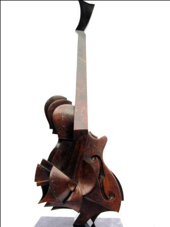 'Acoustic Guitar' sculputer by artist Andrew THOMAS