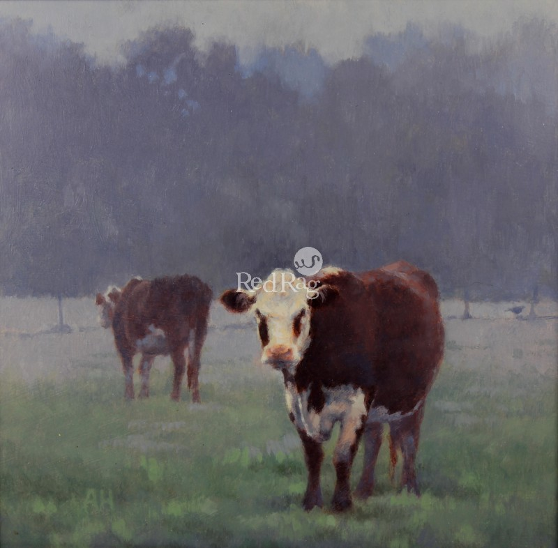 Ann HEAT RBA - Two Cows and a Pheasant in the Morning
