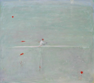 The Sculler painting by artist Ann SHRAGER