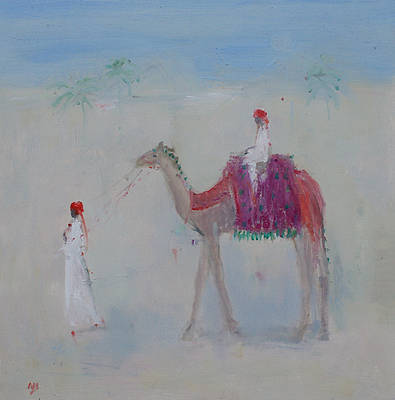 British Artist Ann SHRAGER - Camel and Pyramid