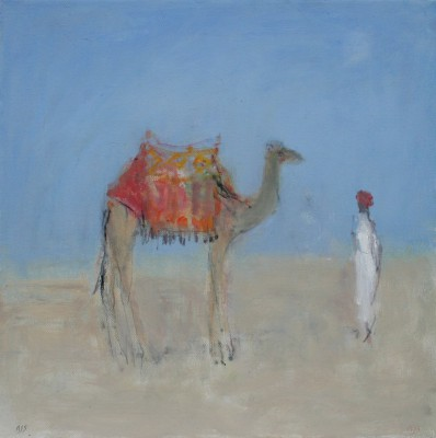 British Artist Ann SHRAGER - Camel in the Desert