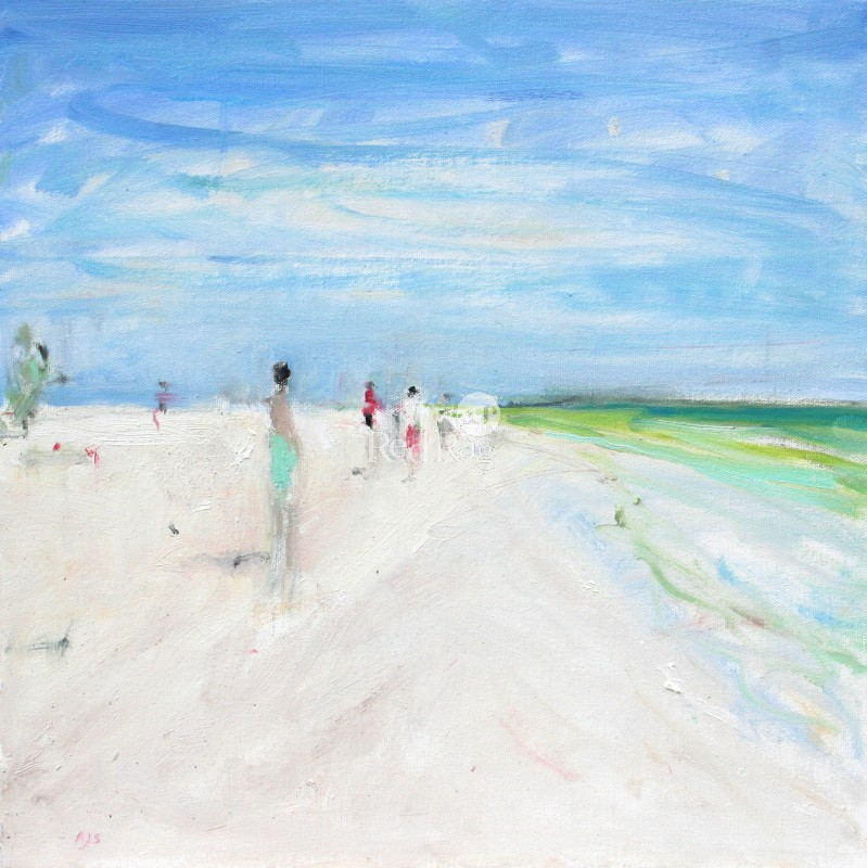 Ann SHRAGER - Figures on the Beach