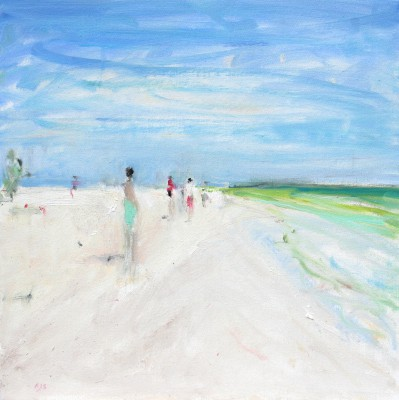 British Artist Ann SHRAGER - Figures on the Beach