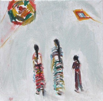 Ann SHRAGER - Guatemalan Ladies and Kites