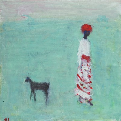 Ann SHRAGER - Figure and Goat