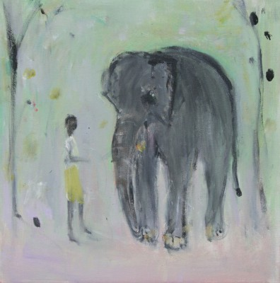 British Artist Ann SHRAGER - Elephant and Boy