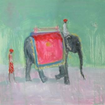 British Artist Ann SHRAGER - The Smiling Elephant