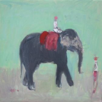 British Artist Ann SHRAGER - The Black Elephant