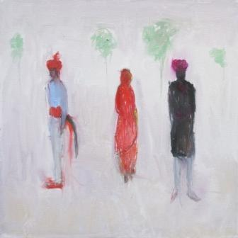 British Artist Ann SHRAGER - Before the Wedding, Kerala