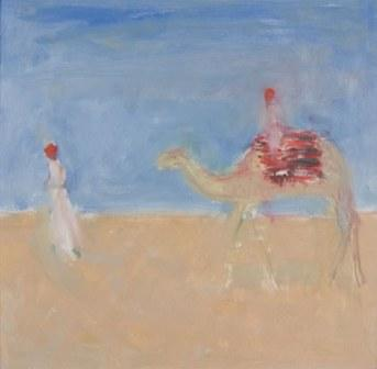 British Artist Ann SHRAGER - Camel being Led