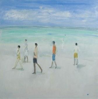 British Artist Ann SHRAGER - Boys on a Beach
