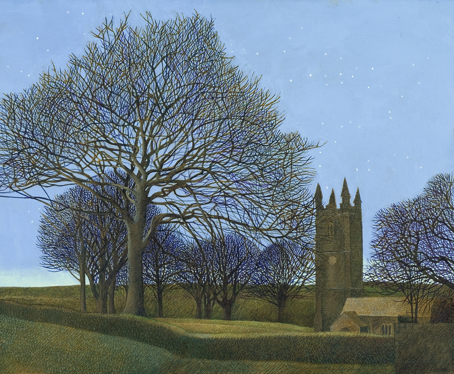 Annie Ovenden - St Cleer Church, Early Evening