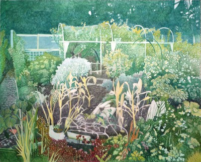 Annie OVENDEN, contemporary artist - Sketching The Allotment