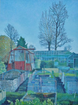 Annie OVENDEN, contemporary artist - Working On The Allotment