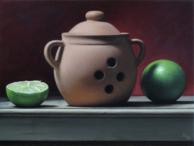 Anthony ELLIS - Still Life with Clay Vase and Limes