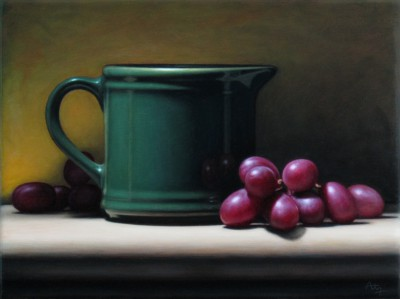 Anthony ELLIS - Still Life with Green Mug and Grapes