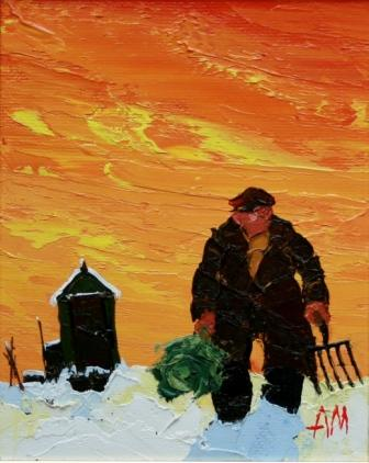 British Artist Austin MOSELEY - Winter Cabbage