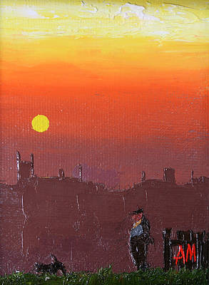 British Artist Austin MOSELEY - Quiet Sunset