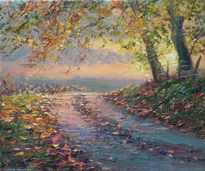 Mark PRESTON - Autumn Sunset, Gunhills