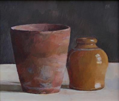Barbara RICHARDSON  RBA - Still Life: Old pots