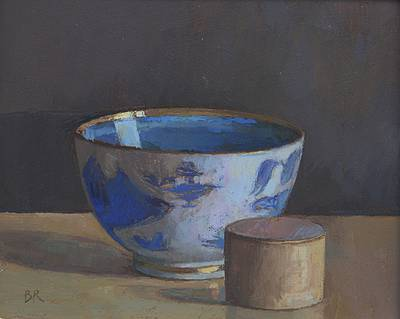 British Artist Barbara RICHARDSON  RBA - Chinese Bowl and Pill Box