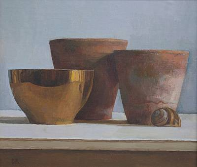 British Artist Barbara RICHARDSON  RBA - Golden Bowl and Two Pots