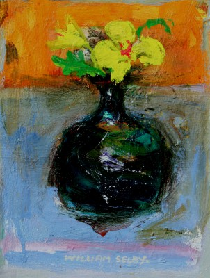 British Artist William SELBY - Green Vase