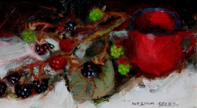 British Artist William SELBY - Berries