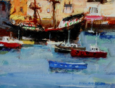 British Artist William SELBY - The Golden Hind, Brixham